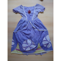 Vestido Disfraz Nena Princesa Sofia 4-5 Años