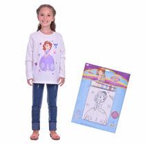 Kit Remera Para Pintar Disney Princesita Sofia Mundo Manias