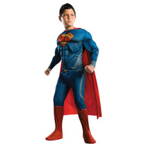 Traje Disfraz Superman Talle S Con Musculos Original Envios