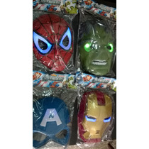 Mascaras Con Luz - Spiderman - Hulk - Iron Man - Capitán Ame