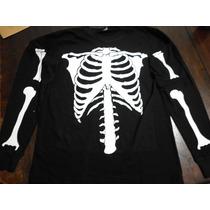 Conjunto/disfraz De Esqueleto Para Niños.ideal Halloween!!
