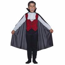 Disfraz Conde Dracula Capa Y Dientes Halloween