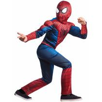 Disfraz Hombre Araña Spiderman 2 Con Musculos Talle S Small