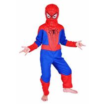 Disfraz Hombre Araña Spiderman Niños Marvel De 5 A 7 Años