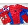 Disfraz Spiderman Hombre Araña Con Máscara Con Luces.