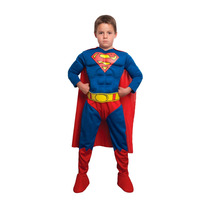 Disfraz Superman Original Dc Con Musculos Unico En Argentina