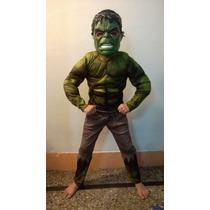 Disfraz Increible Hulk Nene Musculos Con Máscara Luces