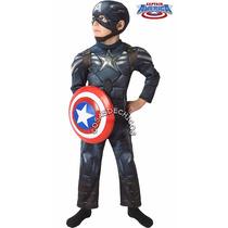 Disfraz Capitan America Premium Importado C/ Escudo Marvel