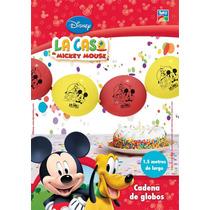 Mickey Kit Globos Cadena Deco Tematica Mickey Mouse