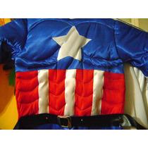 Disfraz De Capitan America Con Musculos