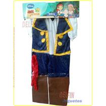 Disfraz Jake Y Los Piratas Del Nunca Jamás Niños + 3 Años