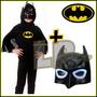 Disfraz Infantil + Careta Con Luz Batman Super Heroes
