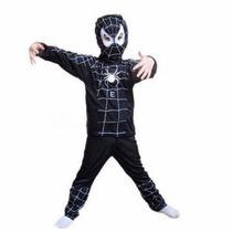 Disfraz Spiderman Negro, Hombre Araña Talle S