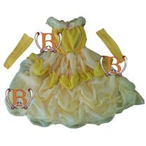 Disfraz Vestido Princesa La Bella Y La Bestia Premium C/acce