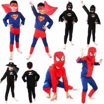 Disfraz Spiderman Superman Batman Goku Ben 10 Niños S- M- L