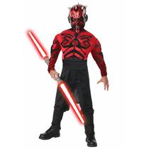 Disfraz Musculos Darth Maul Original Star Wars Máscara Latex