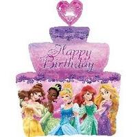 Globo Metalizado Torta Princesas Sirenita Rapunzel Bella Cen