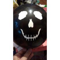 Globo Calavera Fantasma Terror Piratas Halloween Deco X12