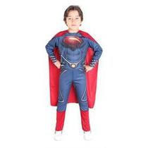 Disfraz Superman Hombre De Acero ( En 3 Talles) Original