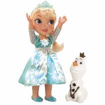 Muñeca Frozen Glowing Elsa C/luz Habla Y Canta
