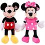Peluche De Minnie Y Mickey Con Sopapa Para Colgar Sin Sonido