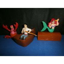 Lote De 3 Muñecos La Sirenita. De Mc Donalds