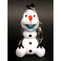 Frozen Olaf Muñeco De Nieve Luz Y Sonido Llavero Disney 6 Cm