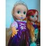 Muñecas De 45 Cm De Alto, Tipo Animators Rapunzel, Ariel