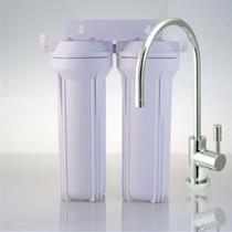 Filtro Purificador De Agua Bajo Mesada Doble C/ Grifo Italia