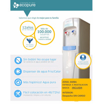 Dispenser Ecopure Frio Calor C/ Purficador De Agua Premium
