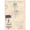 F.c.g.b.m.tren Rayo De Sol Carta De Cena Año 1954