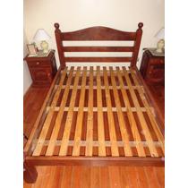Juego De Dormitorio En Algarrobo Macizo