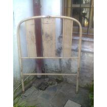 Cama De 1 Plaza De Hierro Esterillado A $399
