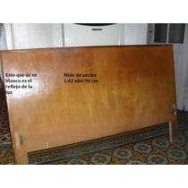 Cama Americana 2 Pzas.1,30x1,85 Elástico Madera Borde Metal