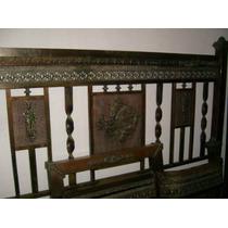 Una Reliquia,cama De Dos Plazas Del Siglo Pasado