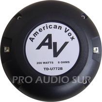 Driver American Vox Av Tdu772b 72mm 200watts 105db Titanio