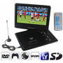 Reproductor Dvd Portatil 9,5 Tv Fm Juegos 12v Auto Usb C/rem