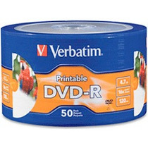 Dvd Virgen Verbatim X 50 Printable 16x Full Print Ink Oferta