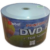 Dvd+r 4.7gb Virgen Printable Global X 50