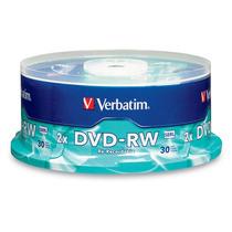 Dvd Regrabable Verbatim Torre X 30 Unidades Dvd-rw 4x 4.7 Gb