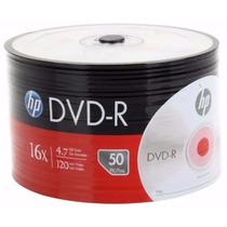 Dvd Hp Estampado Virgen X50 Unid. 4.7gb 120 Min Envios