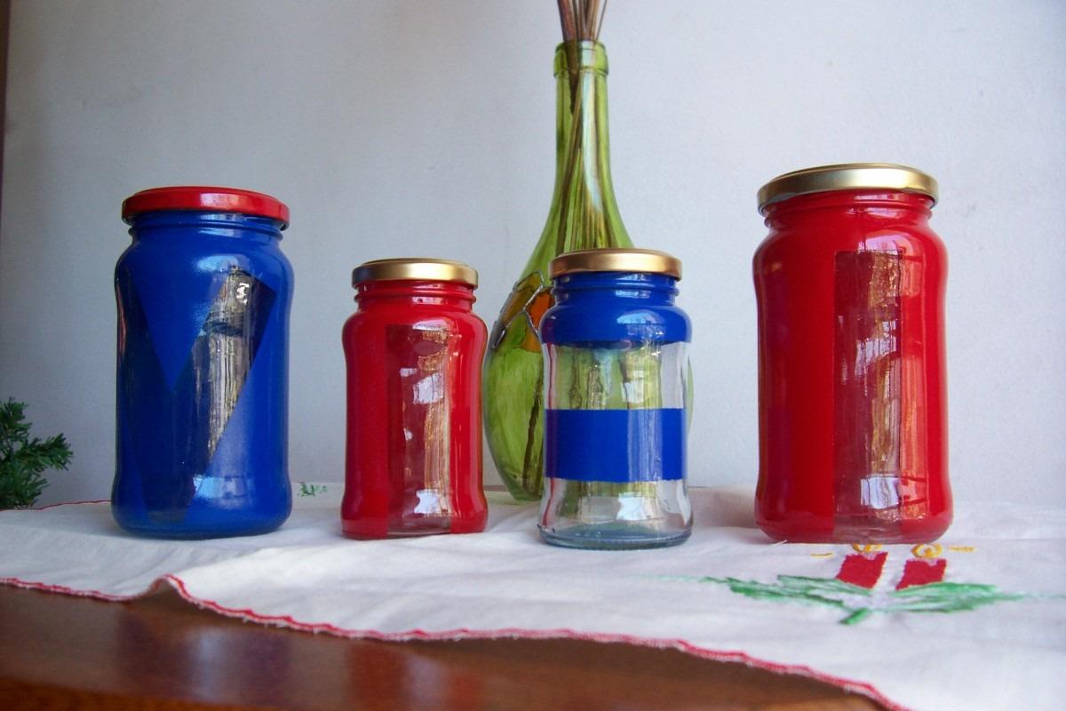Eco envases de vidrio decorados con esmalte reciclados for Envases de vidrio decorados