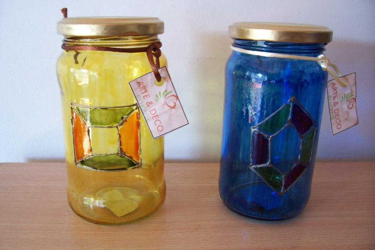 Frascos de vidrio reciclados imagui for Envases de vidrio decorados