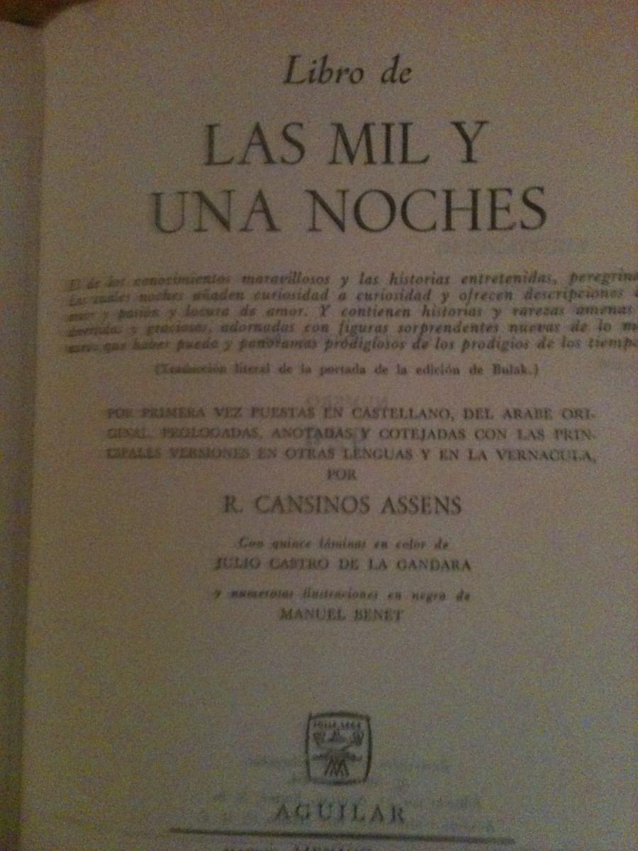 libro mil y una noche: