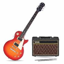 Guitarra Epiphone Lp100 + Ampli Vox Pathfinder 10w Y Acces