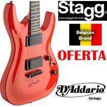 Guitarra Eléctrica Stagg Pro Seu30 T/ Jackson Heavy Belgican