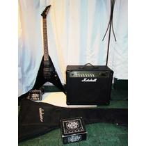 Combo Guitarra Jackson C/floyd Marshall 30mg Fx+metal Muff