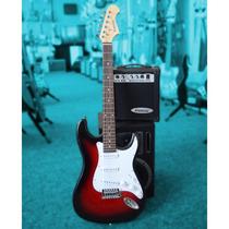 Guitarra Eléctrica Kansas Fg250 + Amplificador 10w + Funda