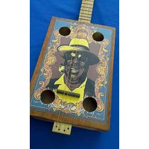 Cigar Box Guitar #4 Con Traste Mod Clasica-blues Vintage