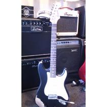 Guitarra Electrica Stratocaster Relic Olivos Color Negra